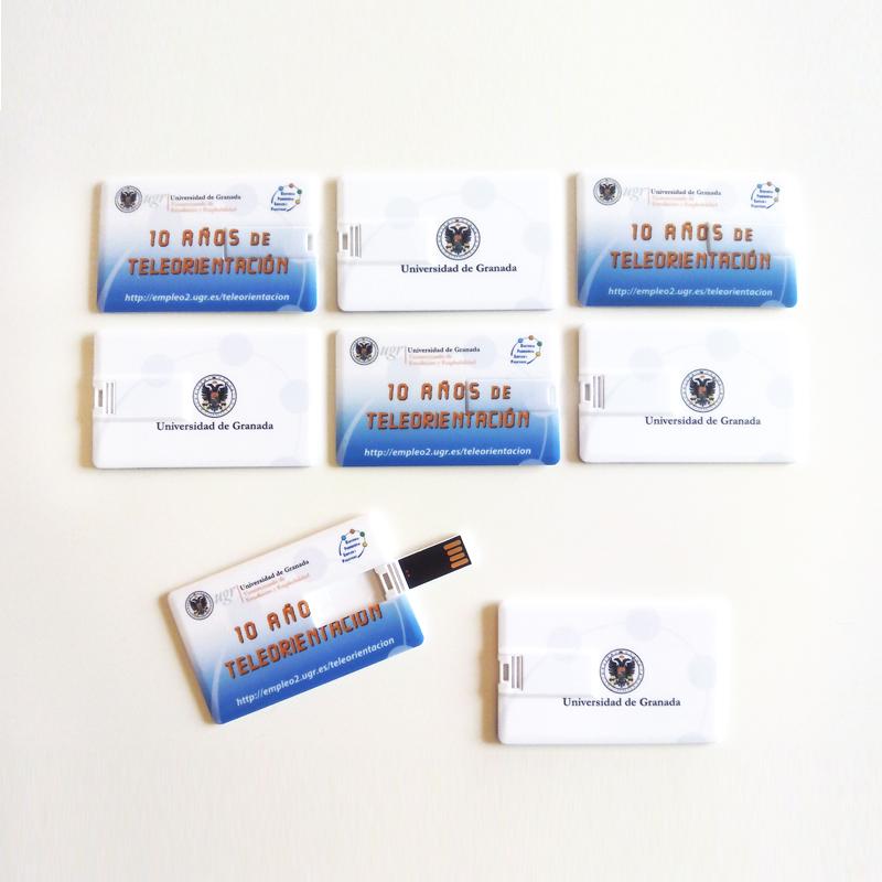 MEMORIA USB Tipo Tarjeta. Aniversario Plataforma Teleorientación. UGR